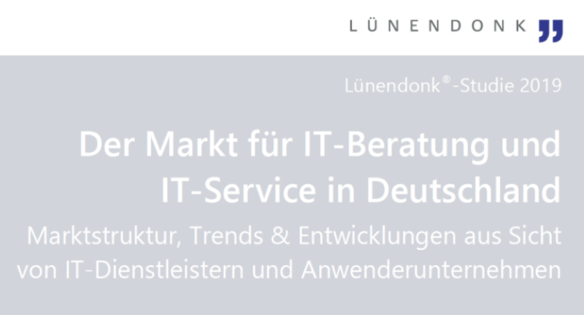 Lünendonk Studie IT-Markt 2019 Cover